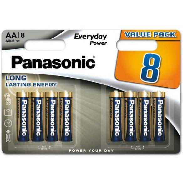 Panasonic Everyday elem LR6EPS-8BW 8db AA bliszter