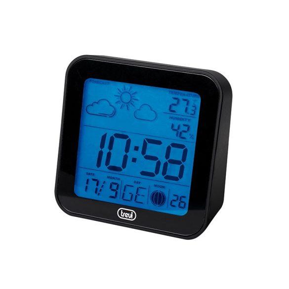 Trevi mini időjárás állomás digitális órával és naptárral ME3105 fekete