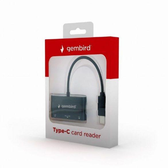 Gembird UHB-CR3-02 kártyaolvasó fekete USB 3.2 Gen 1 Type-C