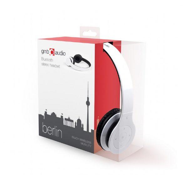 Gembird BHP-BER-W fejhallgató/fülhallgató Fejpánt Fehér