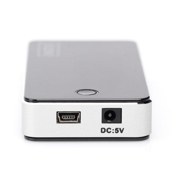 Digitus DA-70222 interfész hub 480 Mbit/s Fekete, Ezüst