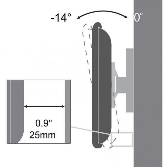 """SBox PLB-3422T 23""""-42"""" dönthető fali konzol"""