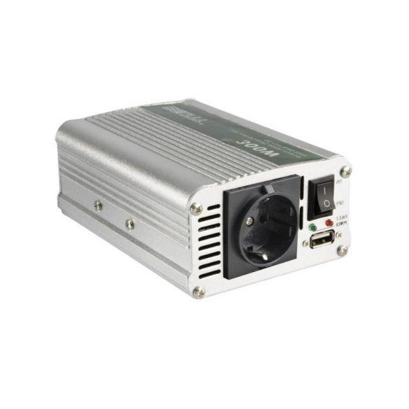 SAI 600USB feszültségátalakító, 300/600W USB töltőaljzat