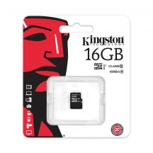 Micro SD HC Kingston16GB Class10 + SD adapter