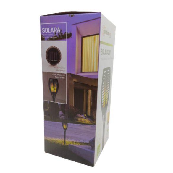 SpectrumLED Solara 2W/20Lm/IP44/napelemes kerti leszúrható fekete LED lámpa