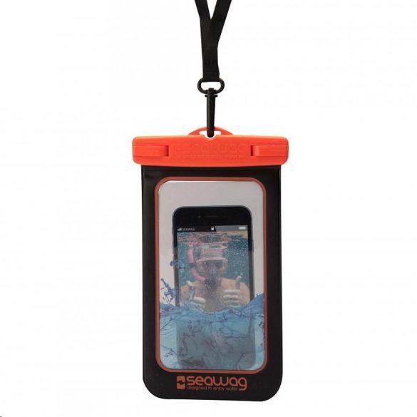 """SEAWAG 5,7"""" fekete-narancs vízálló telefontok"""