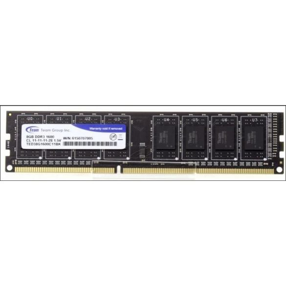 DDR3 8GB 1600 Team Group Elite TED38G1600C1101