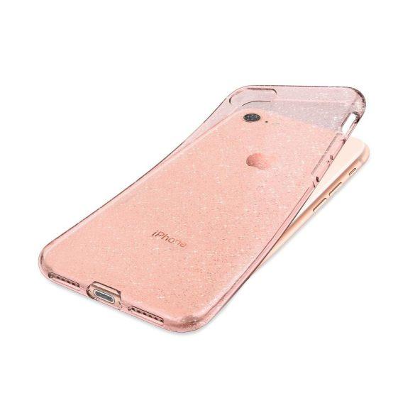 Iphone 5/5s szilikon tok rózsaszín csillámos