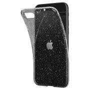 Iphone 5/5s szilikon tok átlátszó csillámos