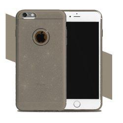 Szilikon védőtok Apple IPhone 6/6S készülékekhez - arany-barna csillámos