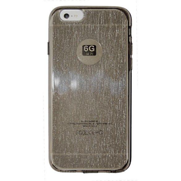 Szilikon védőtok Apple IPhone 66S készülékekhez  aranybarna csillámos