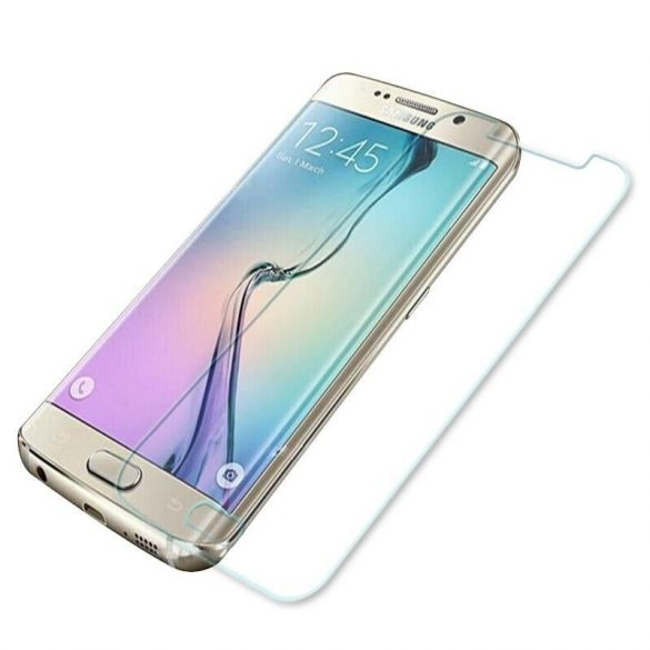 Premium kijelzővédő üvegfólia Samsung Galaxy S6 EDGE mobiltelefonhoz