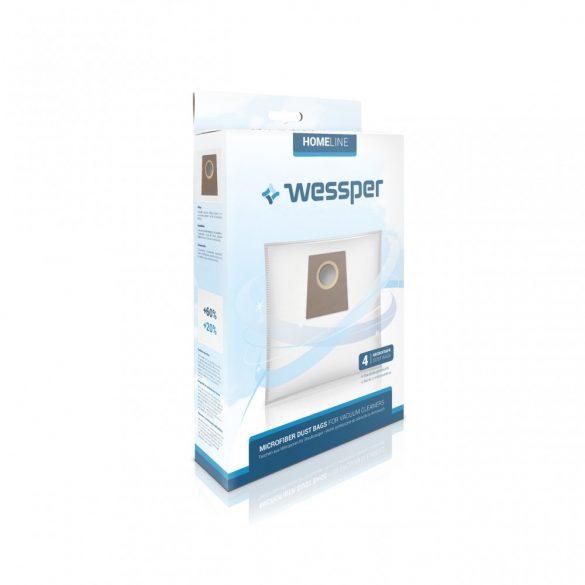 Homeline WES1009b porzsák Bosch/Siemens porszívókhoz (4db)