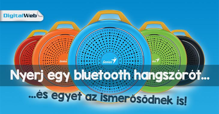 Nyerj bluetooth hangszórót!